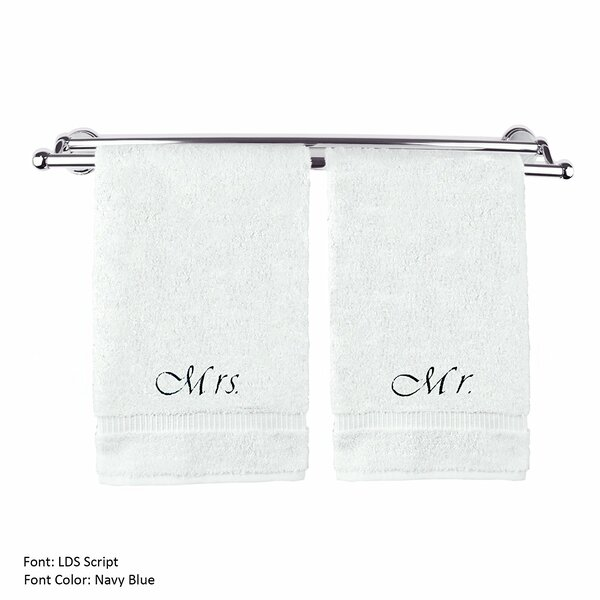 Wedding Engagement Anniversary Gift 100% Cotton Towel Set (Set of 2) by Red Barrel Studio
